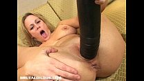 dildo brutal by stretched milf Busty
