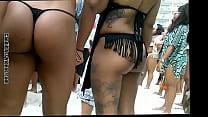 sexy ebony in black thong beach bikini booty dancing and twerking beach ass shaking candid porn videos