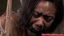 Black maledom sub vibrator punished