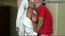 Blonde teen stepdaughter caught her step mom su...