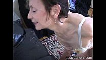 Oldie mistress wants young man to lick her ass ...