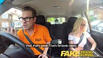 Fake Driving School Stunning blonde gets deep internal creampie on first lesson porn videos