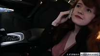 Natural Redhead Abby sees her first BBC thumbnail