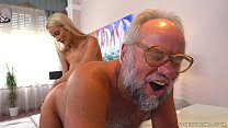 Chary Kiss and her a much older lover - Grandpa...