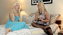 Samantha Rone's pussy licked out by her step mo...
