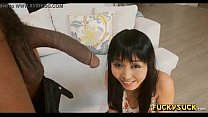 when asian girl see a first black cock in her life