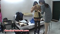 tai phim sex -xem phim sex Backstage with stunning brunette in stockings