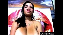 Thick Slut Teases Her Large Breasts