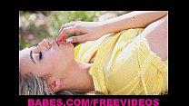 Sophia Knight strips & rubs herself to orgasm outside porn videos