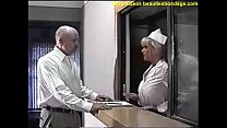 busty nurse ball gagged and breast fondled