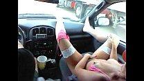 jordan faye in pink outfit rubbing pink