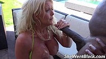 pool the by cock black by fucked anal milf tit Big