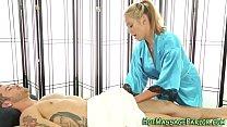 Beautiful masseuse jizzed