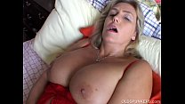 big tits old spunker imagines you fucking her juicy pussy