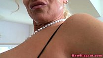 bigtitted euro milf blows huge black cock before backdoor