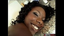 BrutalClips - Black Slut Double Penetrated By 2 Horny Studs