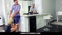 familystrokes   cutie fucks her step cousin while uncle works