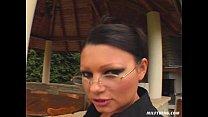 Eve - HUGE cumshot on glasses (and lick them)