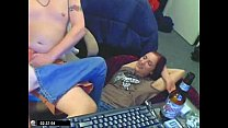 Skinny Redhead suck dick and fucked by her brot...