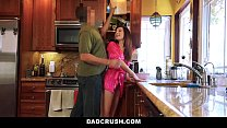 dadcrush   petite step daughter fucked in kitchen