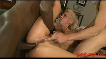 Pretty babe gets all her holes slammed by big h...