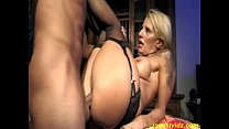 hot busty mommy fucks with son on table in kitchen