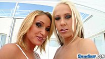 Sperm Swap Hot blondes in group sex swap and sw...