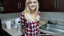 ShesNew Skinny blonde teen Chloe Foster POV homemade sex - download porn videos