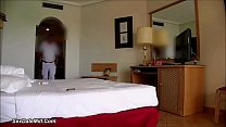 Woman flashes hotel staff