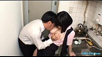 Busty Office Lady Giving Blowjob On Her Knees C...