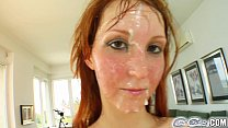 deepthroat cock 5 after cum in drenched redheads cover for Cum