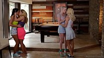 lesbian couples swap each other   riley nixon and elsa jean