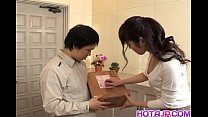 Haruna Ayase gets dildo and licked shlong