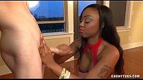 Ebony In Red Handjob thumbnail