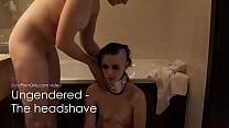 Lesbian girl shaves her nude slut's head smooth bald - BaldPornGirls.com thumbnail