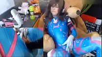 teen dva cosplayer fucks herself - more on teencosplayercams.com