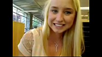Blond girl squirts in public school - more vide...