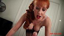 wank a man her gives milf redhead tit big Horny