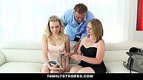 FamilyStrokes - Daddy fucks step daughter every time mommy leaves thumbnail