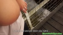 Plump euro babes picked up sex outdoors