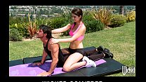 Sexy tight-ass yoga instructor karina white fucks student's cock