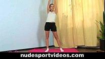 exercises sport nude doing girl teen Sweet