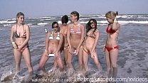 senior trip girls on the beach skinny dipping