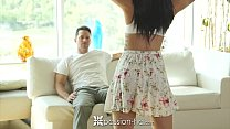 passion hd   brunette marley brinx pounded by dick on the couch