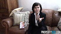 PropertySex - Cute real estate agent makes dirty POV sex video with client