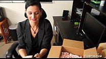 sweet milf handjob at the office