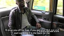 Black dude anal fucks busty cab driver porn videos