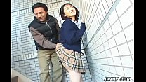 Schoolgirl Seire Mochizuki gets kinky on the street.