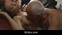young maid tastes her s old boss cock