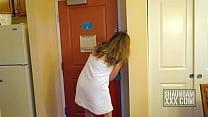 shaundam takes spunk lube door to door – Free Porn Video